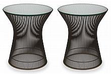 e5e7d17c3e13a A PAIR OF PLATNER SIDE TABLES BY WARREN PLATNER (1919-2006) FOR KNOLL