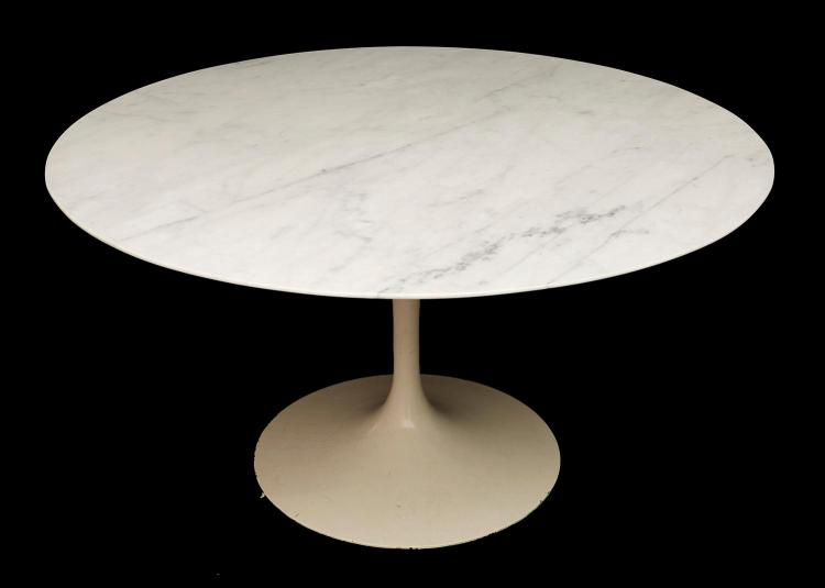 AN EERO SAARINEN TULIP TABLE WITH CARRERA MARBLE TOP, 1961