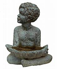 LENORE BOYD (born 1953) Boy with Clam Shell 1968 bronze