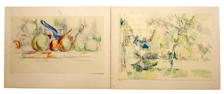 AFTER PAUL CEZANNE (French, 1839-1906) Quinze Aquarelles folio of facsimile prints edition 11/225