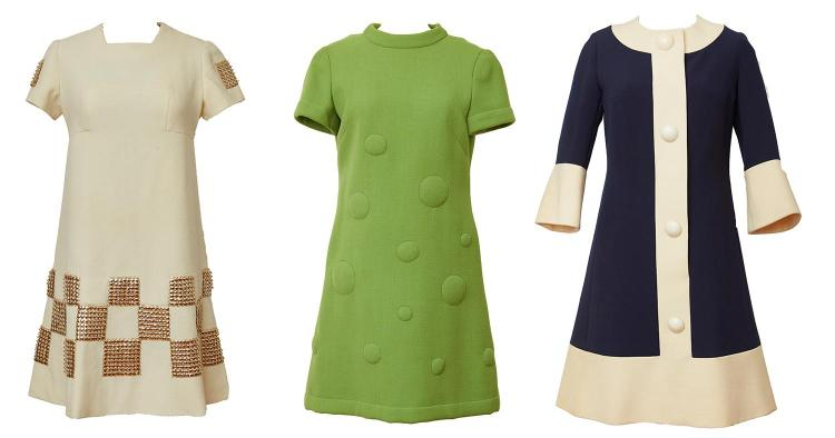 THREE RARE EARLY 1960S DEMI-COUTURE