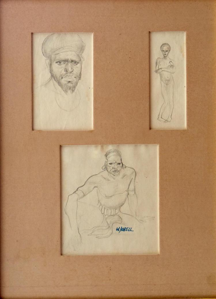 WILLIAM DOBELL (1899-1970) Figure Studies pencil on paper