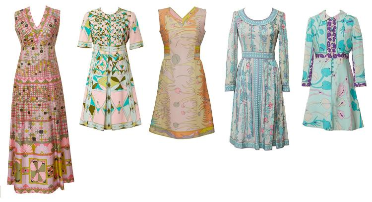 A COLLECTION OF FIVE SILK & SILK JERSEY DRESSES BY AVERARDO BESSI, CIRCA 1960-1965