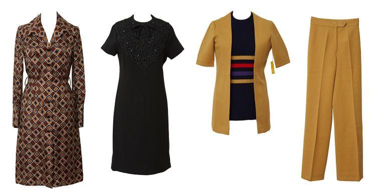 A COLLECTION OF RARE DESIGNER VINTAGE CLOTHING INCLUDING CHRISTIAN DIOR, LANVIN, & PIERRE BALMAIN, CIRCA 1965-1975