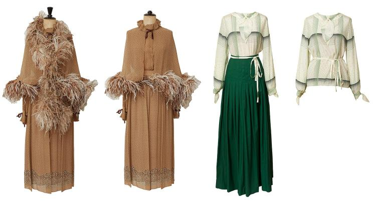 TWO RARE VINTAGE DEMI-COUTURE OUTFITS BY VALENTINO, CIRCA 1970