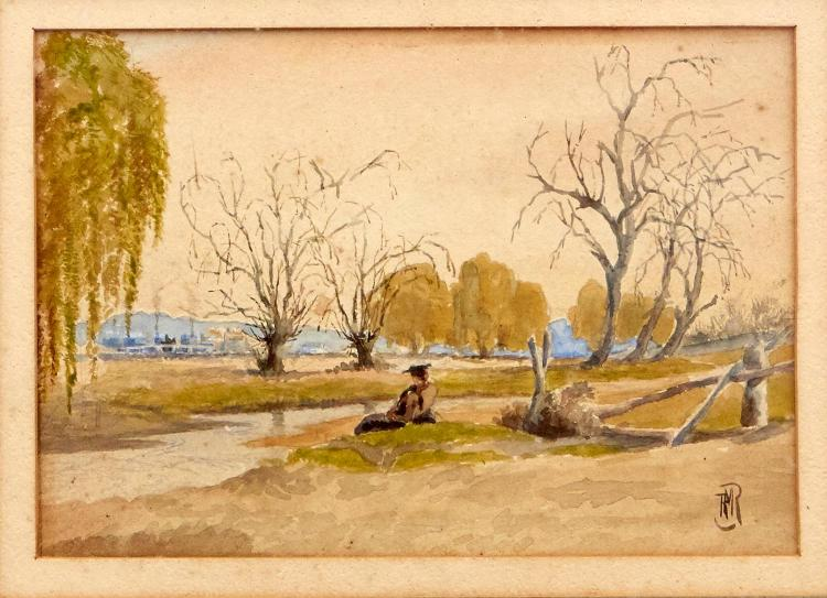 POSSIBLY BY TOM ROBERTS (1856-1931) Armidale Creek watercolour on paper
