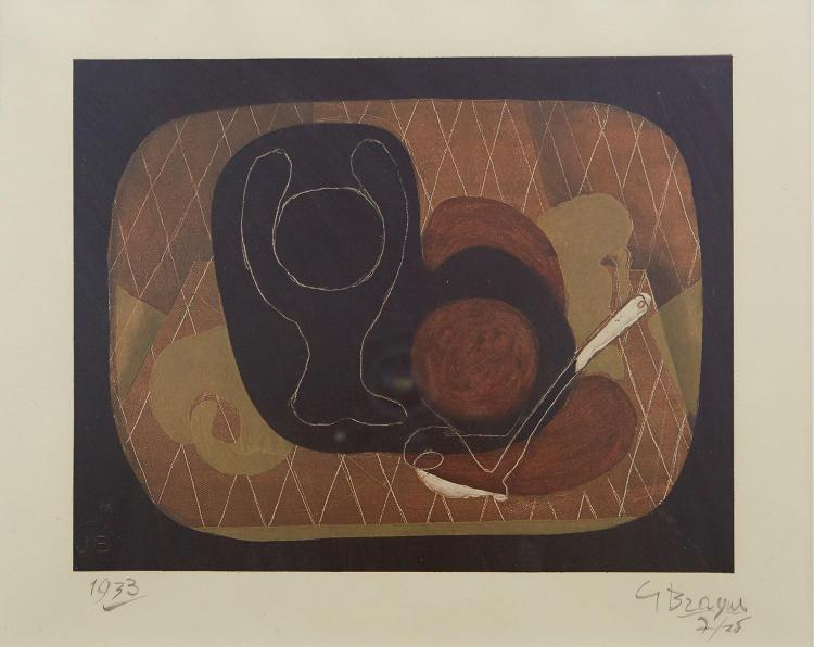 GEORGES BRAQUE (French, 1882-1963) Nature Morte 1933 lithograph edition 7/25