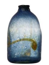 A STUDIO GLASS VASE BY SAM HERMAN (AMERICAN BORN 1936)