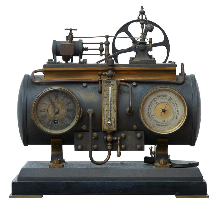 A FRENCH INDUSTRIAL REVOLUTION CLOCK, CIRCA 1890