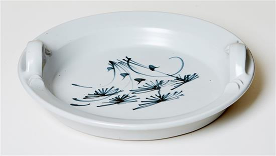 LES BLAKEBROUGH (born 1930) Twin-Handled Tray ceramic