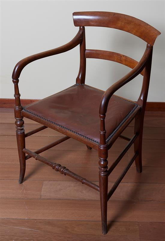 SOUTH AFRICAN CAPE YELLOWWOOD ARMCHAIR, CIRCA 1830