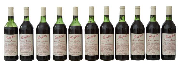 ELEVEN BOTTLES OF PENFOLDS GRANGE HERMITAGE BIN 95 VINTAGE 1970 BOTTLED 1971