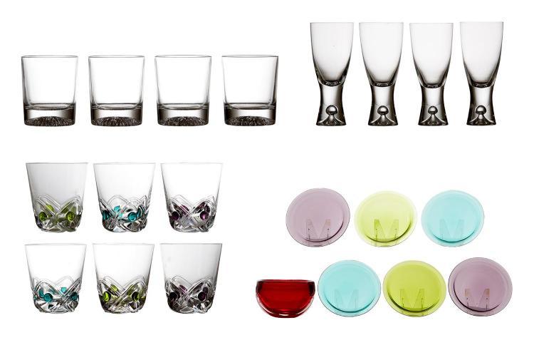 A COLLECTION OF 1970''S GLASSWARE, LALIQUE, ITALLA AND VENINI