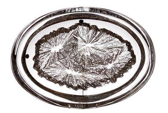 A DAUM CRYSTAL DISH, CIRCA 1970