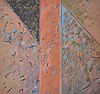 RICHARD HOOK, ABSTRACT, OIL ON CANVAS, 119 X 121CM, Richard (1945) Hook, Click for value