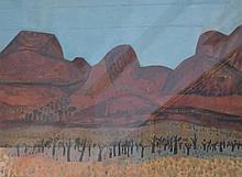 JILL NOBLE (born 1962) Red Ranges, N.T. 1992 gouache on paper PROVENANCE: A
