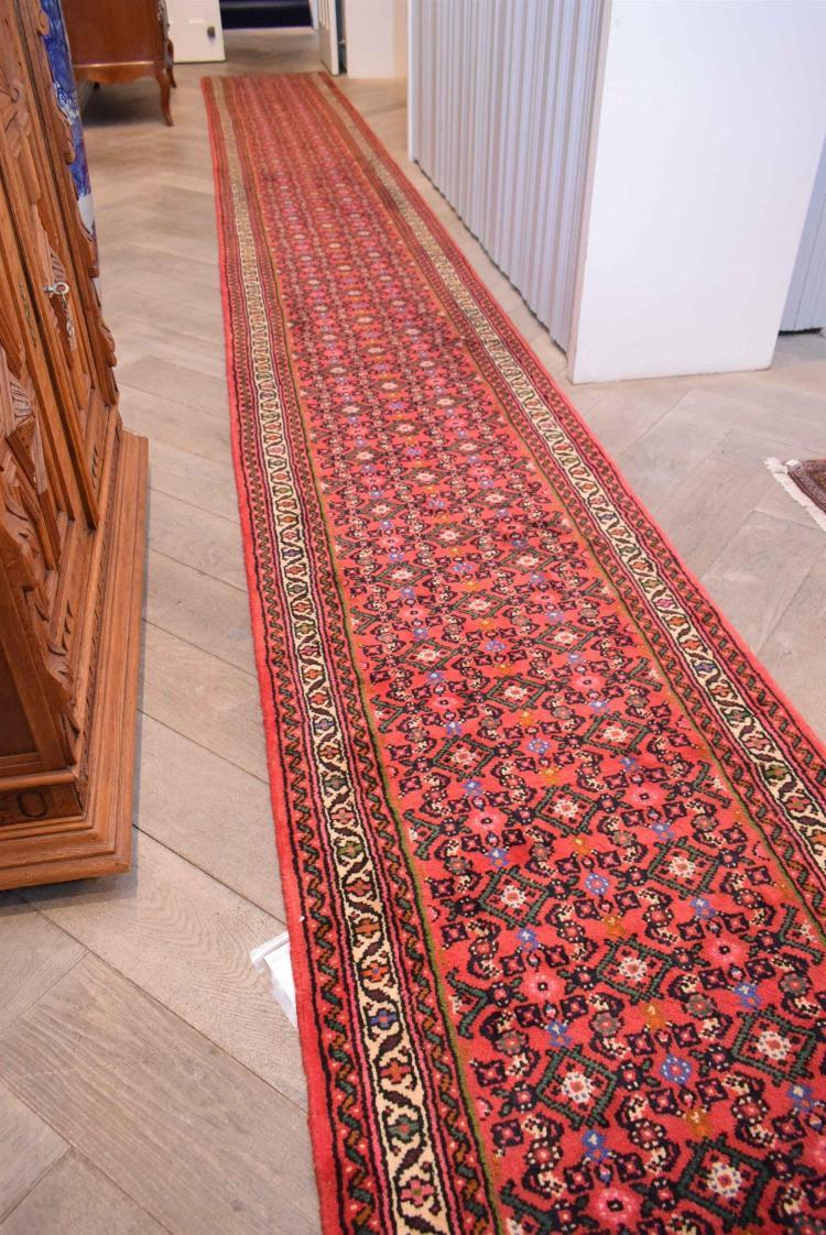 Persian Hossinabad Hall Runner 100 Wool Pile Very Dense W