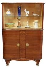 A FRENCH ART DECO ROSEWOOD DRINKS CABINET, CIRCA 1940S. With applied decorative brass mounts, 142cm high, 91cm wide, 42cm deep