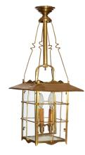 A FRENCH BRONZE LANTERN, CIRCA 1900. Approximately 73cm high, 29cm wide, 29cm deep