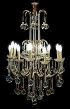 A VINTAGE ITALIAN NICKEL AND GLASS HANGING LIGHT, CIRCA 1980. 122cm high, 62cm diameter