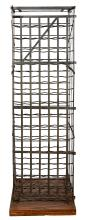 AN ANTIQUE FRENCH WINE CAGE, FROM THE LOIRE VALLEY, CIRCA 1890. 172cm high, 51cm wide, 49.5cm deep