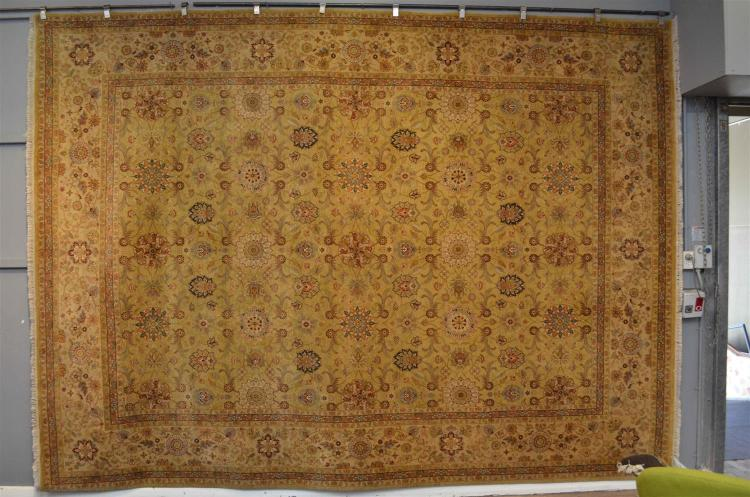 A Super Fine Silk And Wool Persian Isfehan Design New Carpet