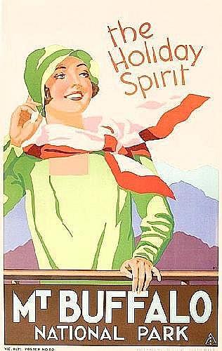 c1930s VR travel poster,