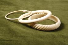 Lot of 3 Bone Bracelets