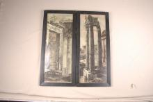 Diptych Prints of Roman Ruins