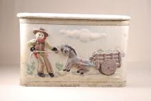 Vintage Cowboy Toy Box