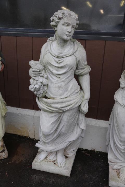 Concrete Statue of a Woman (Winter)