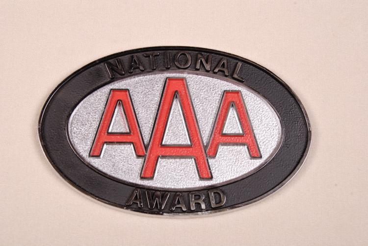 AAA National Award Plaque