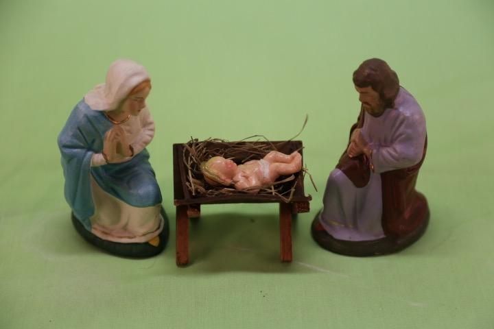 Antique Putz Nativity Scene Figures