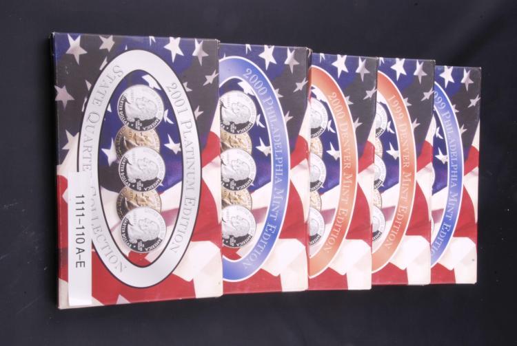 1999 thru 2001 State Quarter Collection Phila-Denver & Platinum edition