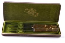 Set of 6 Gold Electro Plated Dinner Knives.