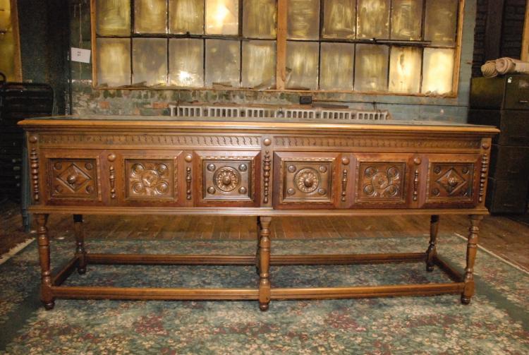 Antique Flemish Credenza Serving Table