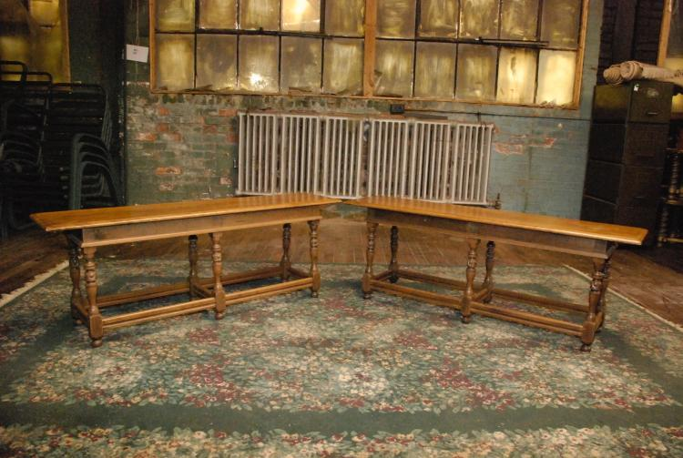 2 Antique Flemish Side Benches
