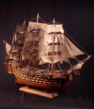 Vintage Large wooden tall ship model over 42