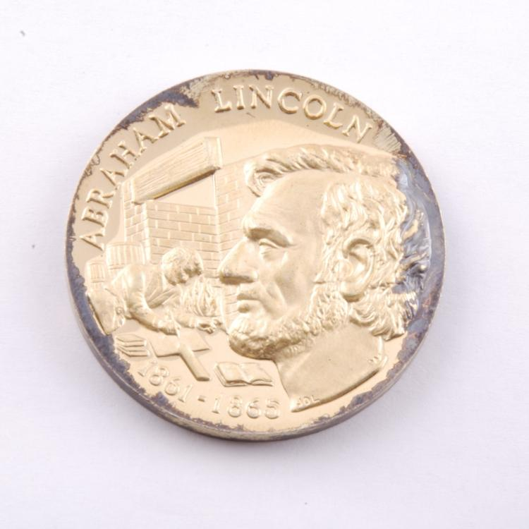 Abraham Lincoln Presidential Coin Gold Ep on Sterling