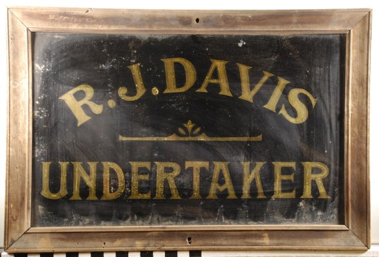 Antique Undertaker Sighn