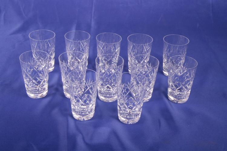 12 Juice Glasses Georgian by Webb Corbett