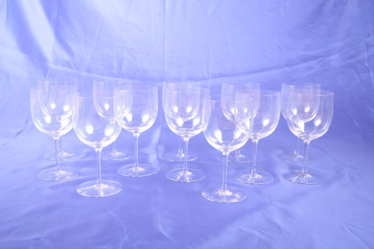 12 Water Goblets. Riedel.