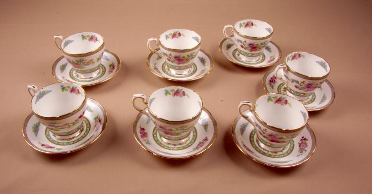 7 Paragon Teacups With Saucers