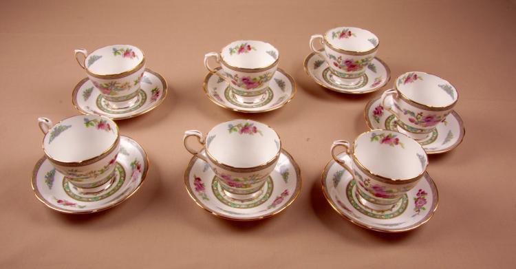 7 Paragon Teacups With Saucers