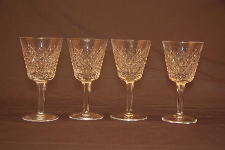 4 Waterford Claret Wine Glasses. Alana.