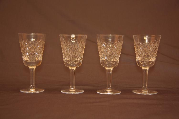 4 Waterford White Wine Glasses