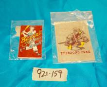 Vintage Baseball Tat-oos Book and Davy Crockett Iron On
