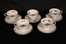 Set of 10 Teacups and Saucers. Royal Doulton