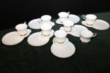 15 pieces Royal Albert Teacups and Snack plates.