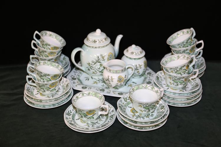41 Piece Adams Chinese Garden Tea Set and Dessert Dishes.